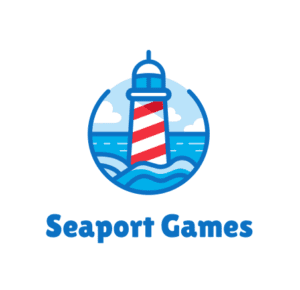 seaport games logo, tabletop games, games for kids, card games, board games