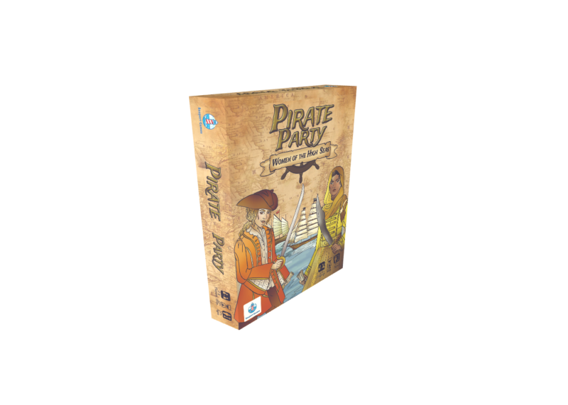box for pirate party women of the high seas card game. 2-4 players ages 10+