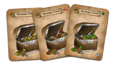 play a set of three treasure chest cards in Pirate Party Women of the High Seas a card game by Seaport Games