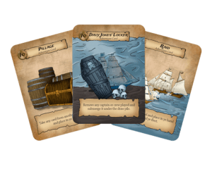 adventure cards in Pirate Party Women of the High Seas card game for 2-4 players from Seaport Games