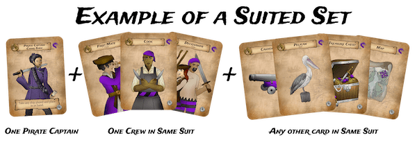 suited set for Pirate Party Women of the High Seas card game