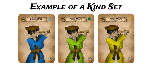 3 of a kind set in pirate party women of the high seas from seaport games